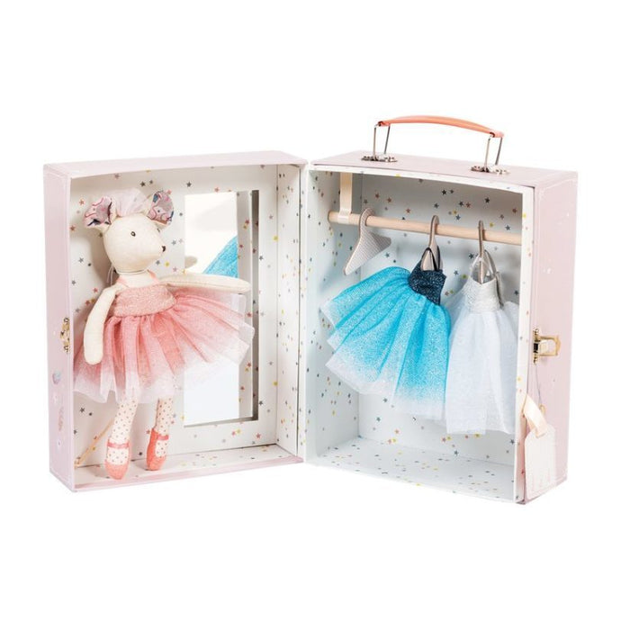 Moulin Roty - Ballerina Mouse Valise 8 Pc Set