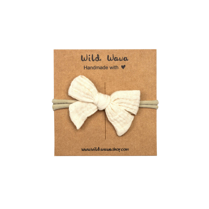 Bow Headband - Natural