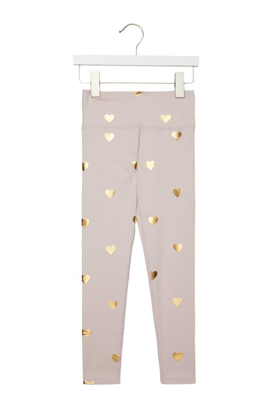 Spiritual Gangster - Girls Active Legging - Rose Quartz Heart Print