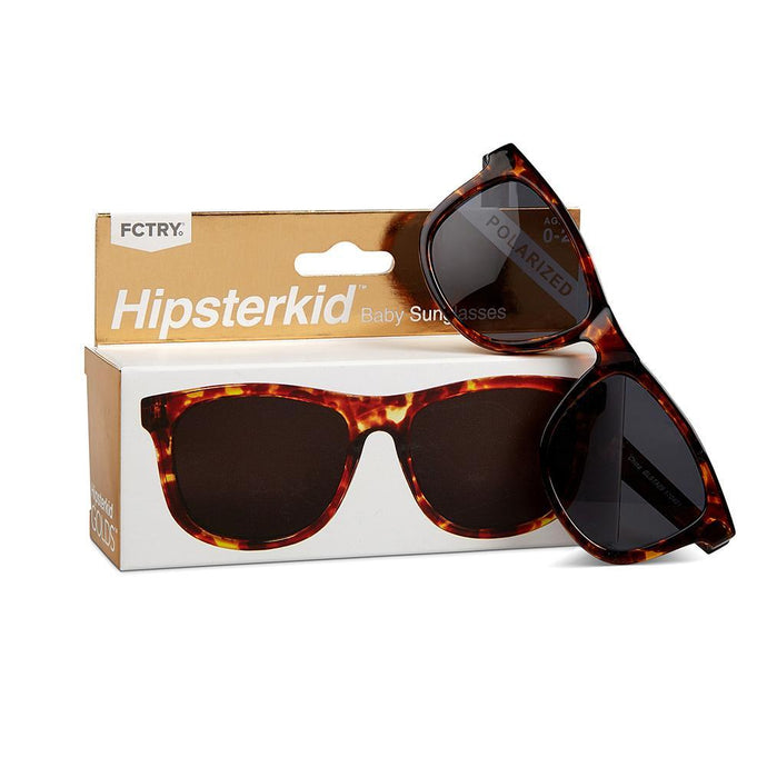 FCTRY Hopsterkid - Wayfarer Polarized Smoke Lenses Tortoise Sunglasses Golds - 0-2Y