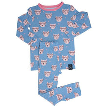 Load image into Gallery viewer, Sweet Bamboo - Big Kid Pj's Long Sleeve Top & Bottom - Hippie Kitty