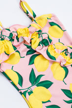 Load image into Gallery viewer, Shade Critters - One Piece Ruffle Front Lemons Suit - Pink/Yellow