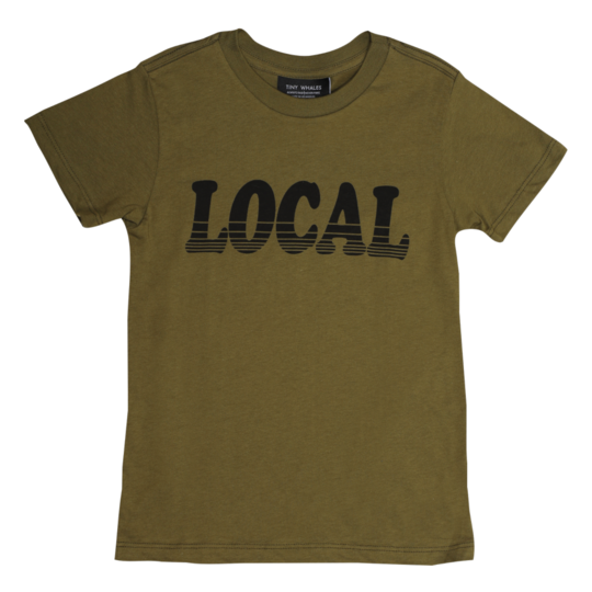 Tiny Whales - Local Short Sleeve Tee - Army Green
