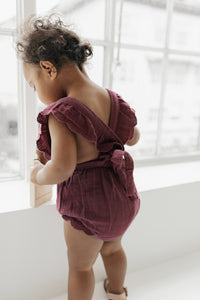 Jamie Kay - Organic Macy Playsuit - Grape