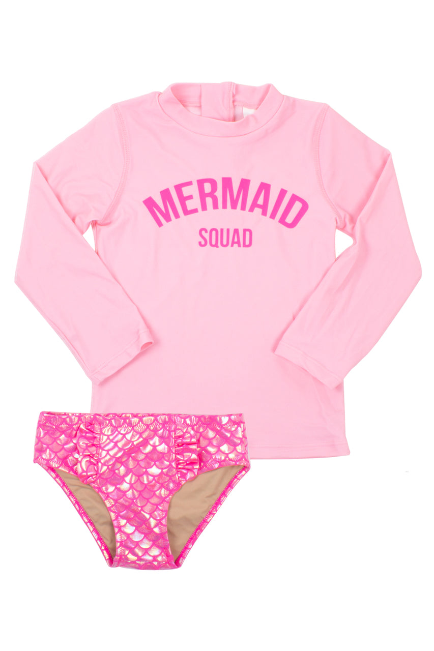 Shade Critters - Mermaid Squad 2 Piece Suit - Hot Pink