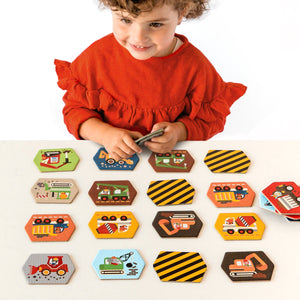 Petite Collage - Construction Memory Game