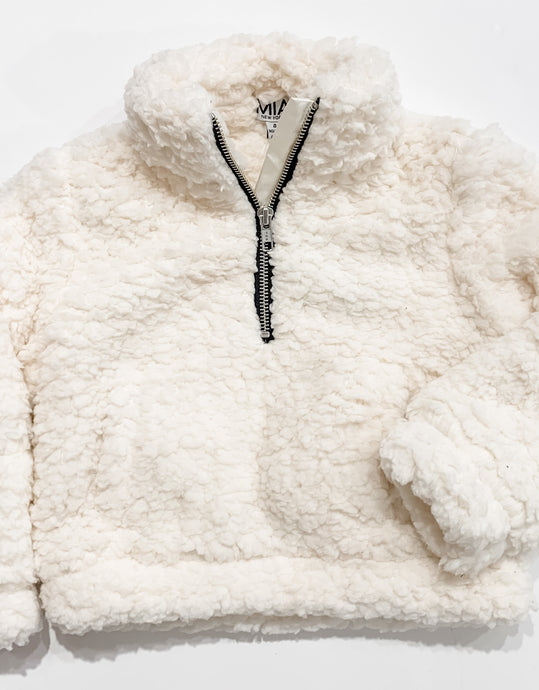 MIA New York - Sherpa Pullover - White