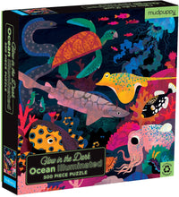 Load image into Gallery viewer, Mudpuppy - Glow in the Dark Puzzle 500 pc - Ocean Illuminated