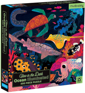Mudpuppy - Glow in the Dark Puzzle 500 pc - Ocean Illuminated