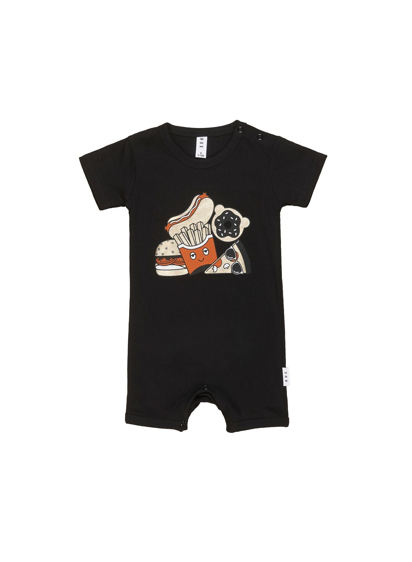 Huxbaby -  Organic Gold Food Short Romper