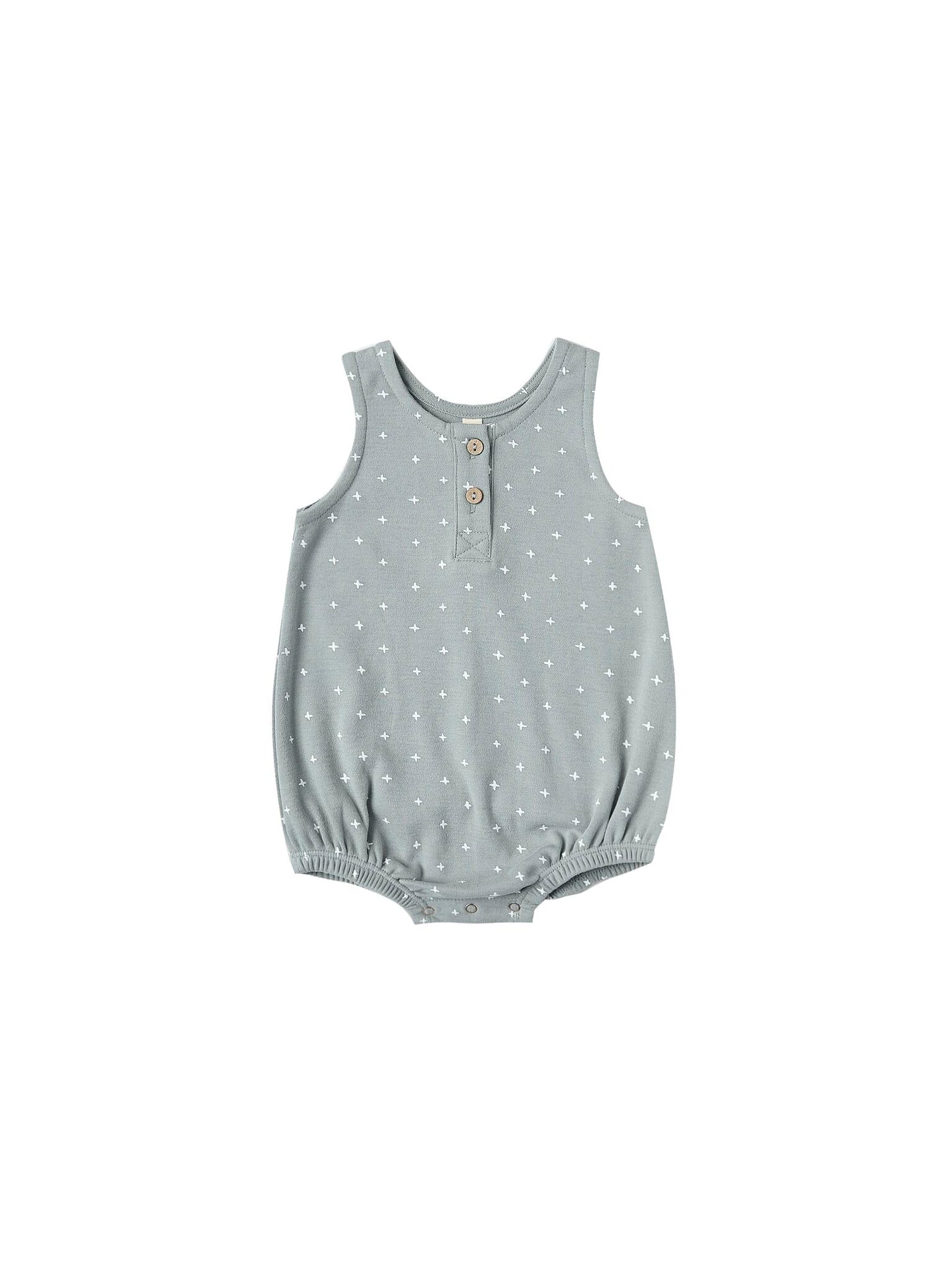 Quincy Mae - Organic Sleeveless Bubble - Ocean