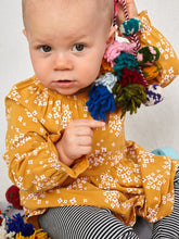 Load image into Gallery viewer, Tea Collection - Peasant Baby Dress - Golden Wildflowers