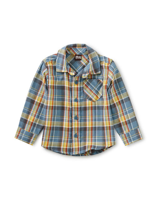 Tea Collection - Plaid Baby Shirt - Huascaran Plaid