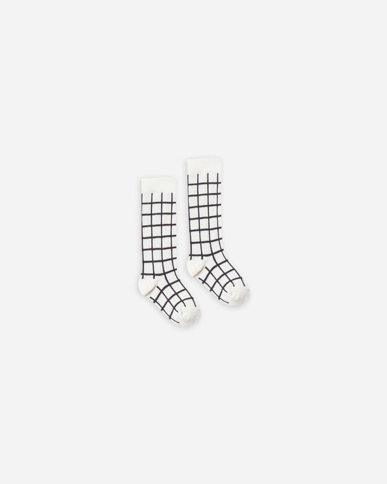 Rylee + Cru Check Knee Socks