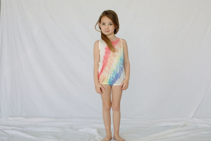 Little Moon Society - Bamboo Summer Romper - Rainbow