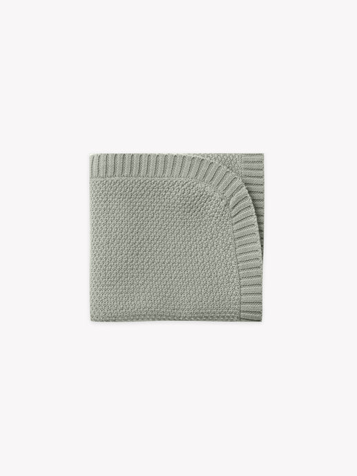 Quincy Mae - Organic Chunky Knit Baby Blanket - Sage
