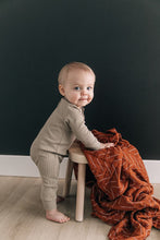 Load image into Gallery viewer, Mebie Baby - Sagebrush Organic Cotton Ribbed Footless One-Piece
