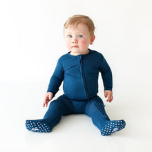 Load image into Gallery viewer, Sailor Blue - Footie Zippered One Piece