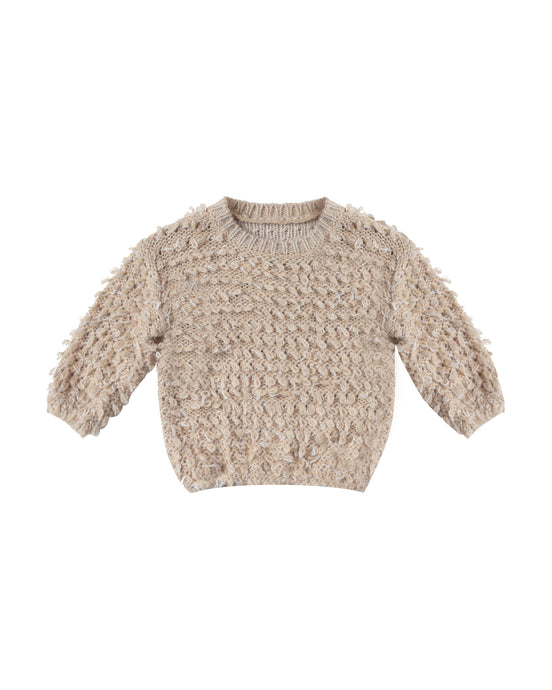 Slouchy Pullover Sweater Loop Knit - Oat