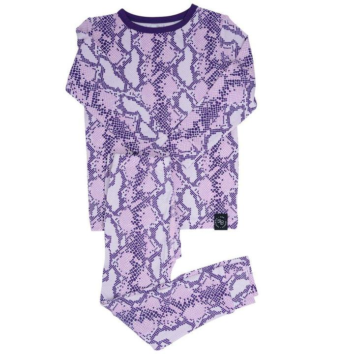 Sweet Bamboo - Pj Set Long Sleeve - Purple Snake