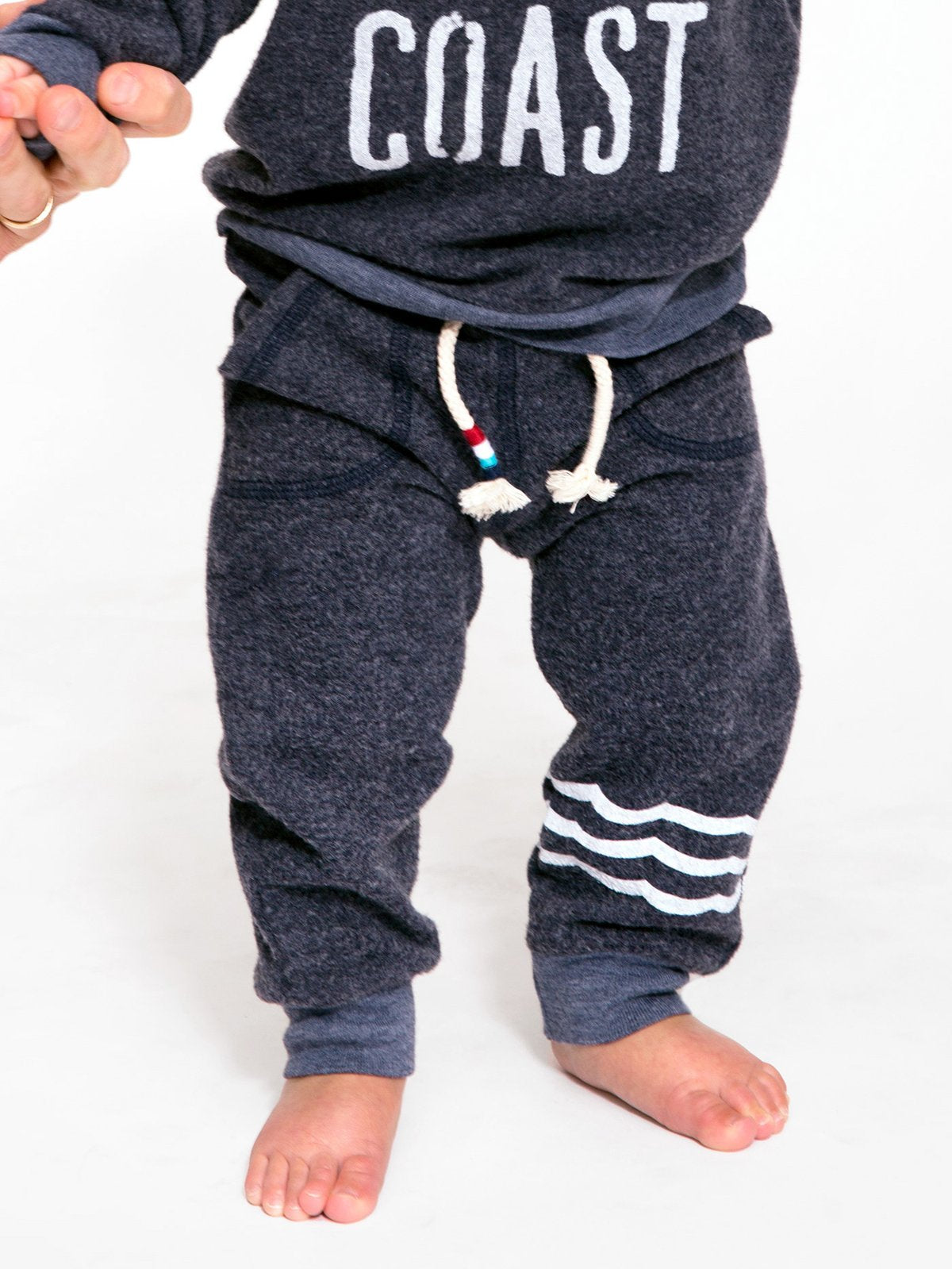 Waves Hacci Jogger Infant - Indigo