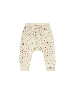 Rylee + Cru - Starburst Sweatpants French Terry Fleece - Natural