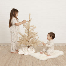 Load image into Gallery viewer, Rylee + Cru - Organic Stardust Pajama Set - Natural