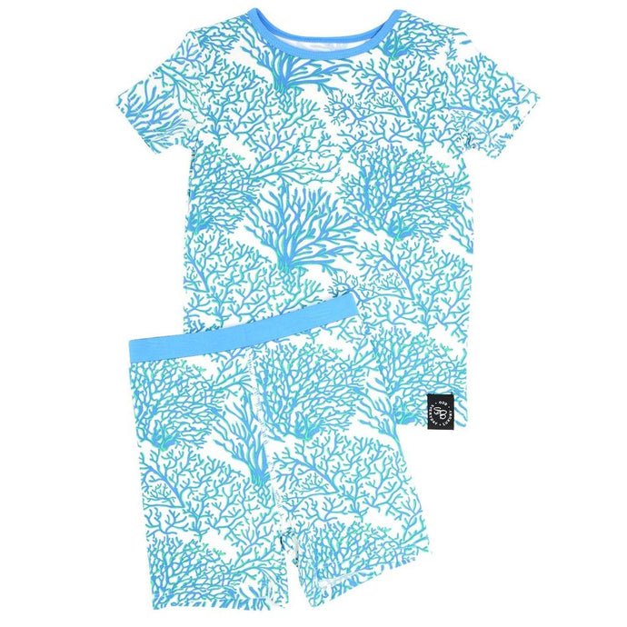 Sweet Bamboo - Summer Pj's Set - Blue Coral