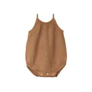 Go Gently Nation - Organic Gauze Romper - Tanin