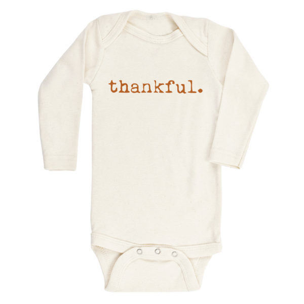 Tenth & Pine Organic Thankful Long Sleeve Bodysuit
