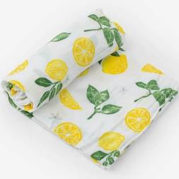 Little Unicorn - Cotton Muslin Swaddle Single - Lemon Drop