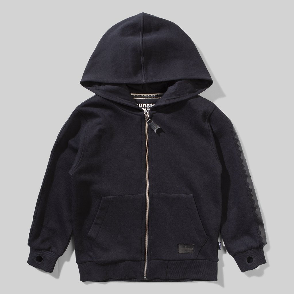MunsterKids Thrash Soft Black Zip Hoody