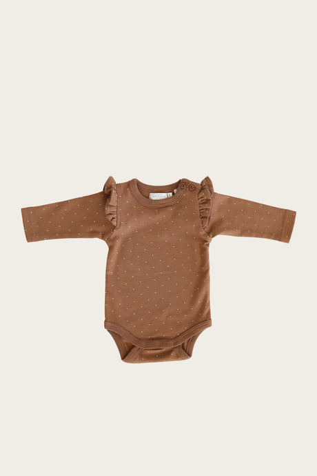 Jamie Kay - Organic Frill Long Sleeve Bodysuit - Tiny Dots