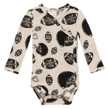 Load image into Gallery viewer, Posh Peanut - Touchdown - Kimono/Footie Pants & Beanie Set