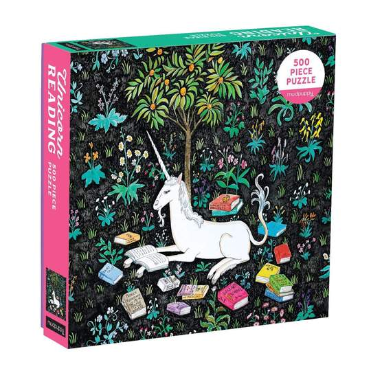 Mudpuppy - Unicorn Reading 500 Piece Puzzle