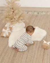 Load image into Gallery viewer, Rylee + Cru - Organic Striped Pajama Set - Forest/Warm Grey