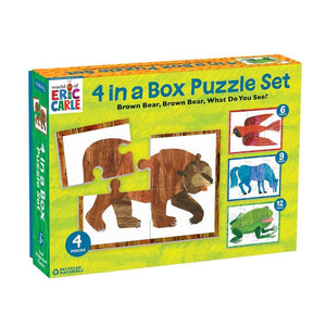 Mudpuppy - Brown Bear Puzzle Set of Four 3 Pc.