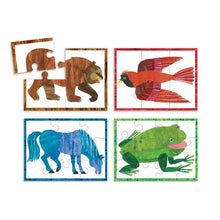 Load image into Gallery viewer, Mudpuppy - Brown Bear Puzzle Set of Four 3 Pc.