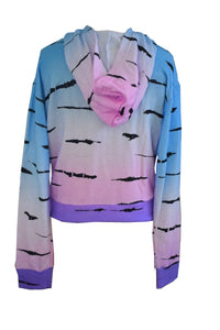 Zebra Ombre Cropped Hoodie