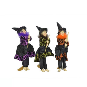 3 Piece Flying Witch with Straw Broom Set - Galt International