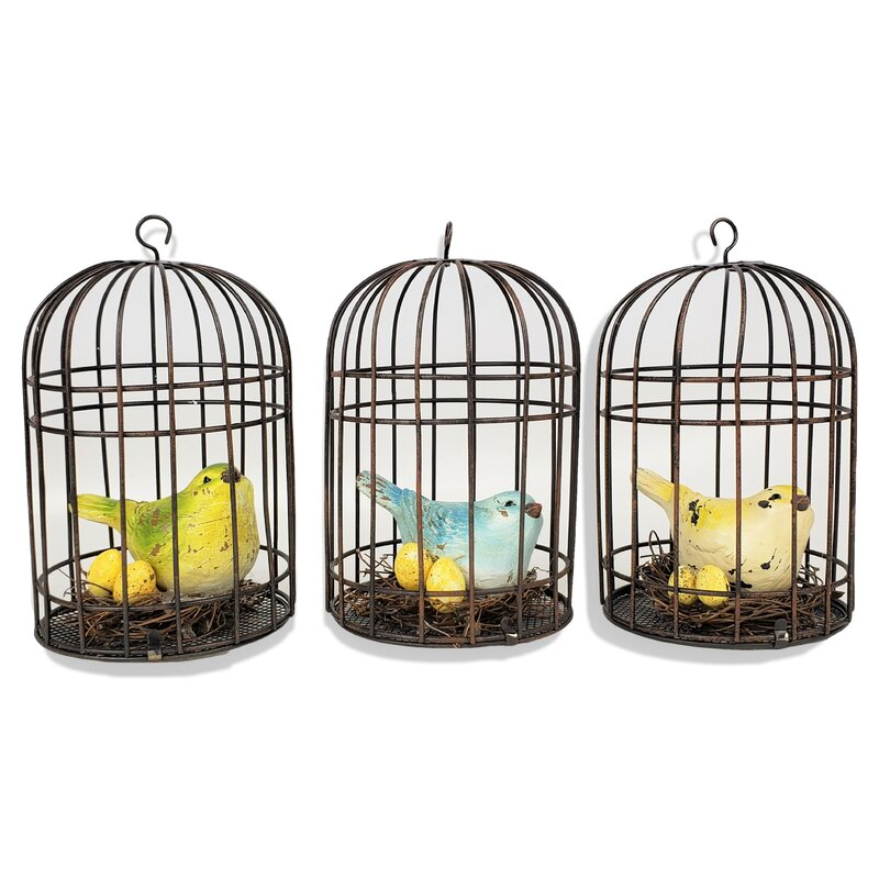 Set of 3 Birdcages 3.35 X 3.35 X 5.91