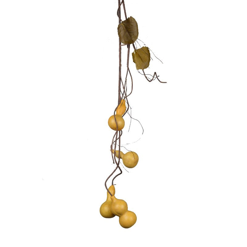 CONTEMPORARY ACRYLIC AUTUMN TENDRIL GOURDS FLORAL ARRANGEMENT - Galt International