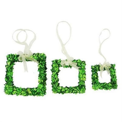 Green Boxwood Square Wreath 10