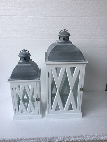 Set of 2 White Lantern