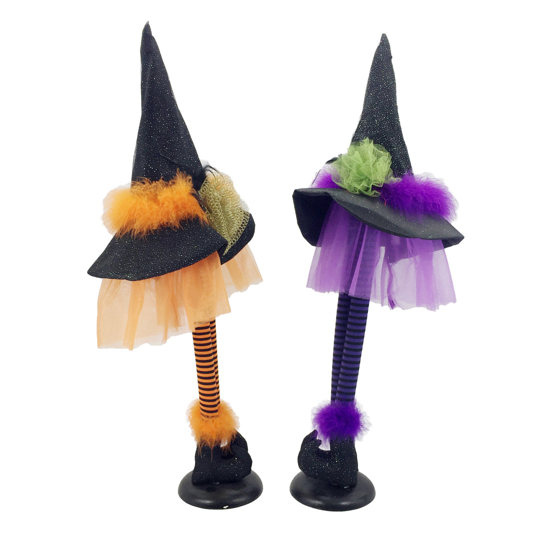Pu/Or/ 2Astd Standing Witch Hat