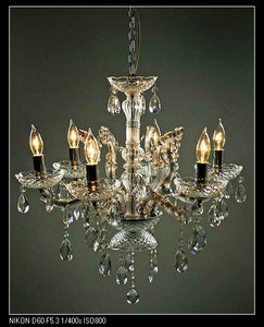 Nickle Chandelier 17.3""