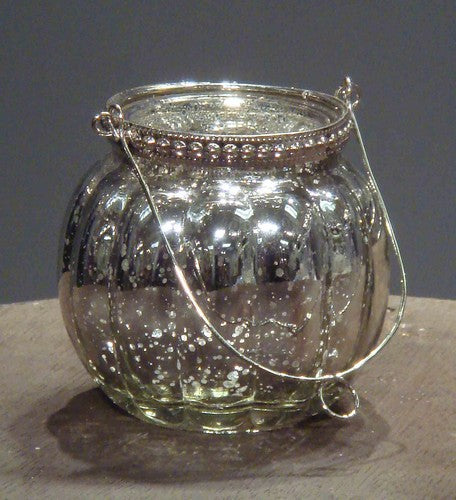 Silver Glassware Candle Holder Silver