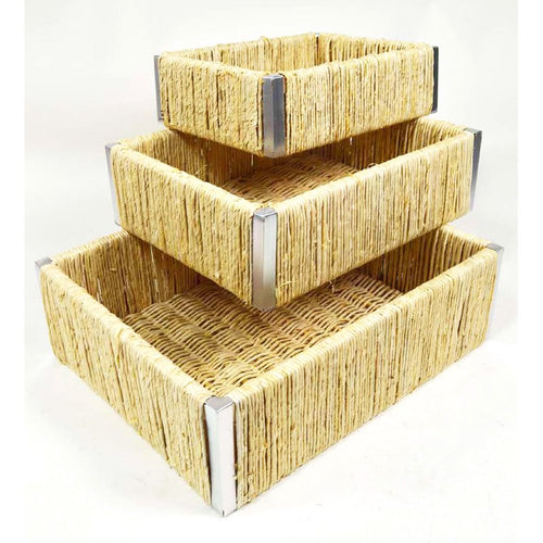 Natural S/3 Natural Weave Basket 0/4Sets - Galt International
