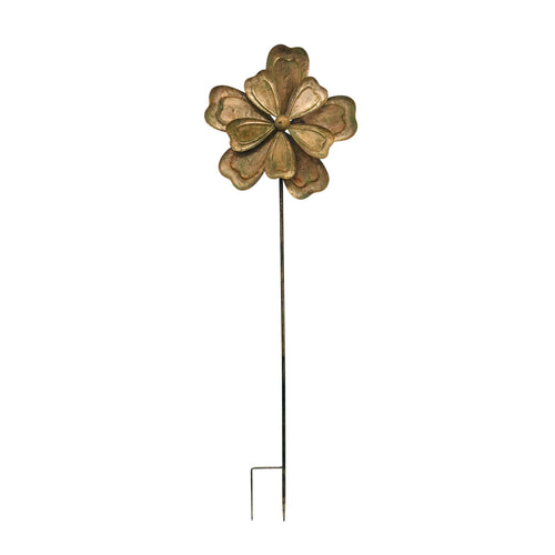 Large Floral Spinner Garden Stake