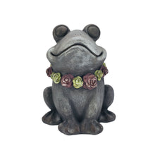 Load image into Gallery viewer, Magnesium Frog with Flower Lei